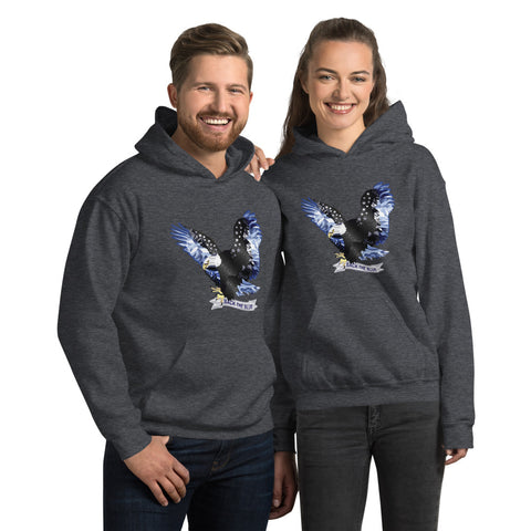 Back The Blue Flying Eagle Hoodie