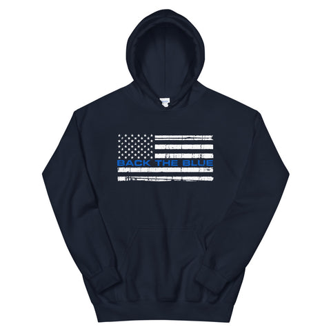 Back The Blue Flag Hoodie