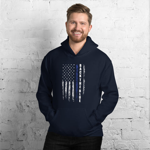 Back The Blue USA Flag Hoodie
