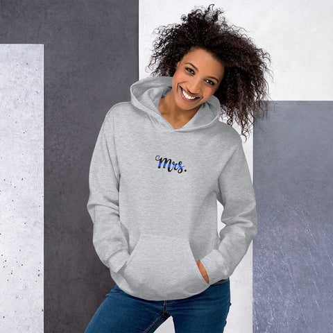 Mrs Blue Line Apparel Women's Hoodie