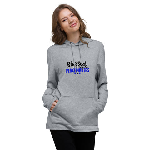 Blessed Are The Peacemakers District Brand Lightweight Hoodie