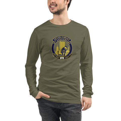 Never Forget 9-11 Memorial Bella Canvas Premium  Long Sleeve Tee