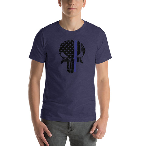 Thin Blue Line Punisher Skull Bellas Canvas Tee