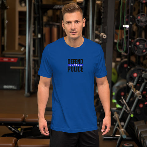 Defend The Police Thin Blue Line Bella Canvas Short-Sleeve  T-Shirt