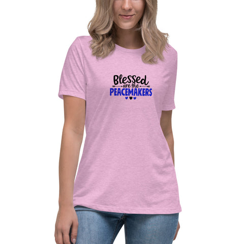 Blessed Are The Peacemakers Women's Relaxed Bella Canvas T-Shirt