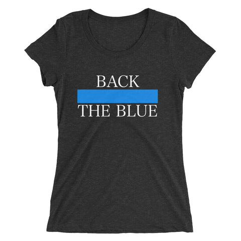 Ladies Back The Blue Tee