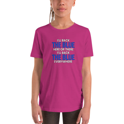 Back The Blue Everywhere Girl's Youth Tee