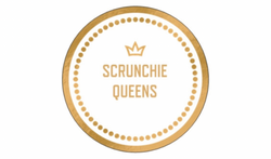 Scrunchie Queens Logo white and gold Melbourne fashion accessories handmade in Melbourne Mornington Peninsula Sydney Brisbane Perth fashion blogger mumma mum hair