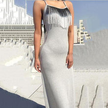 Load image into Gallery viewer, Fashion Sexy Slim Chest Tassel Bodycon Dress