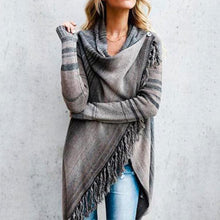Load image into Gallery viewer, Fringed Crazy Blanket Cardigan
