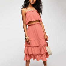 Load image into Gallery viewer, Sexy Ruffled Pleated Casual Sleeveless Two-Piece Suit Maxi Dress