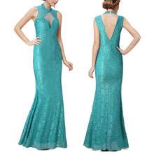 Load image into Gallery viewer, Net Yarn Perspective Sexy Fishtail Evening Dress