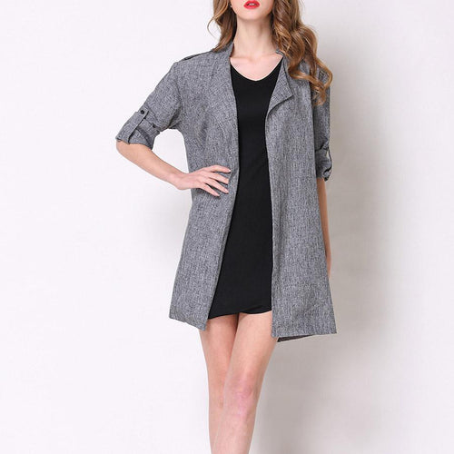 Long Sleeve Pure Color Casual Blazer