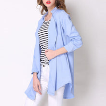 Load image into Gallery viewer, Fashion Lapel Pure Color Loose Blazer