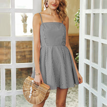 Load image into Gallery viewer, Elegant Sexy Sleeveless Grid Mini Dress