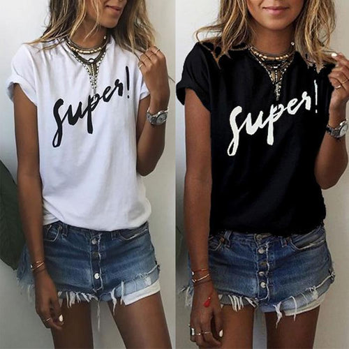 Fashion Letter Printing T-Shirt