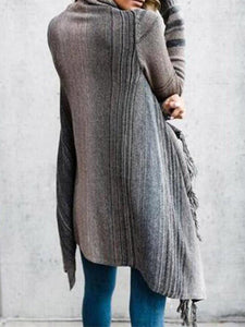 Fringed Crazy Blanket Cardigan