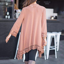 Load image into Gallery viewer, Fashion Early Autumn Lace Stitching Cardigan