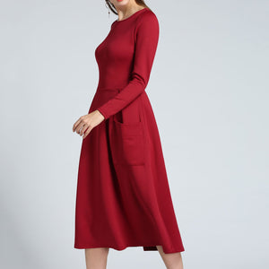 Elegant Long Sleeves Skater Dress