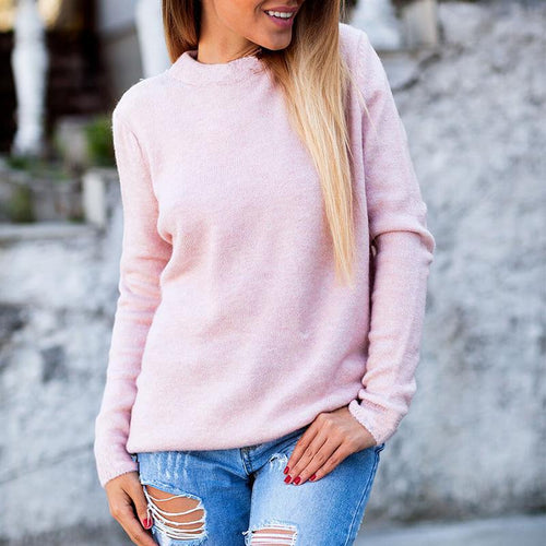 Sexy Two-Faced V-Neck Sweater Women