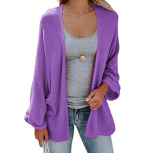 Load image into Gallery viewer, Mid-Length Bat Sleeve Thin Knit Cardigan