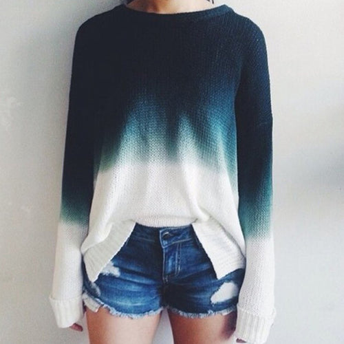 Gradient Retro Casual Sweater