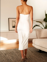 Load image into Gallery viewer, Sexy Sling Sleeveless Solild Color Backless Split Dress