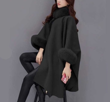 Load image into Gallery viewer, Hairy Collar Temperament Pure Color Shawl Coat