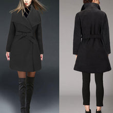 Load image into Gallery viewer, New Slim Solid Color Wool Coat