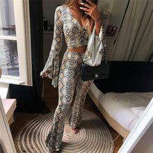 Load image into Gallery viewer, 2018 Autumn V Neck Slim Casual Pants Suit