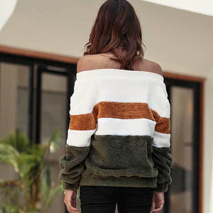 2018 Autumn And Winter Striped Long Sleeve Sweater