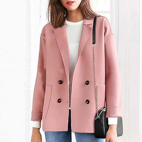 Autumn And Winter Large Size Wool Short Coat Blazer