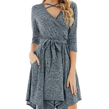 Load image into Gallery viewer, Autumn Sexy V Neck Lace Casual Dress