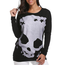 Load image into Gallery viewer, Halloween Round Neck Long Sleeve Female T-Shirt