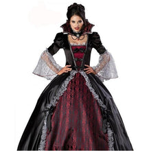 Load image into Gallery viewer, Halloween Vampire Witch Ghost Ghost Bride Maxi Dress