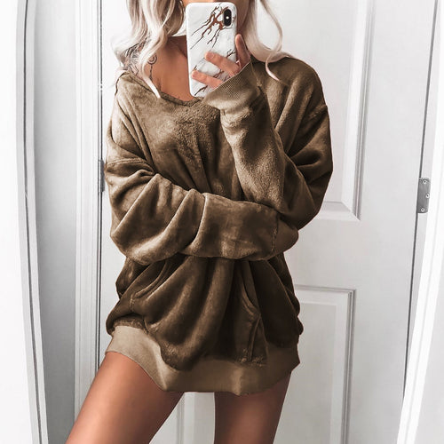 Velvet Long Sleeve Jacket Hoodie Sweater