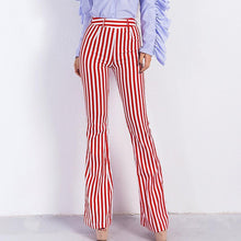 Load image into Gallery viewer, Vertical Stripe High-Waisted Micro Bell-Bottoms