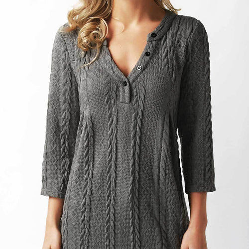 Twist Lace Long Sleeve Casual Sweater