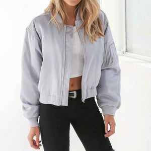 Casual Zipper Collar Cotton Jacket