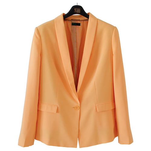 Plain Large Size Casual Blazer