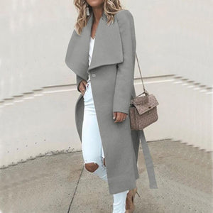 Autumn/Winter Loose Long Sleeve Wool Coat
