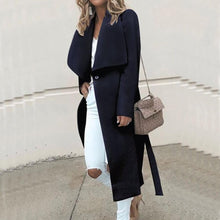 Load image into Gallery viewer, Autumn/Winter Loose Long Sleeve Wool Coat