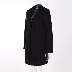 Warm Woolen Long Sleeve Coat