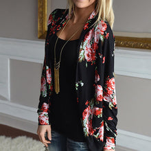 Load image into Gallery viewer, Casual Printed Long Sleeve Cardigan
