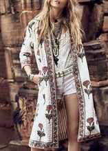 Load image into Gallery viewer, Modern Floral Pattern   Printed Long Sleeve Coat