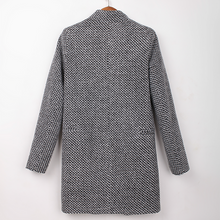 Load image into Gallery viewer, Fashion Solid Color Wool Coat
