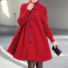 Load image into Gallery viewer, Casual Loose Cloak Woolen Coat