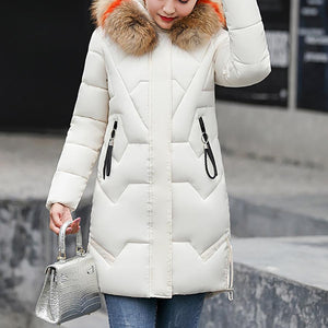 Casual Slim-Fit Cotton Jacket Down Jacket