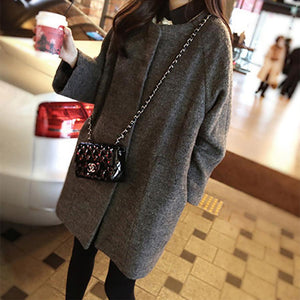 Fashion Woolen Slim Coat