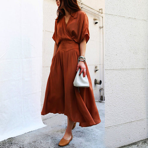 Fashion Short Sleeve Maxi Dresses Casual Dress